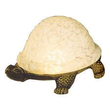 <strong>Meyda Tiffany</strong> Turtle Art Glass Accent Table Lamp