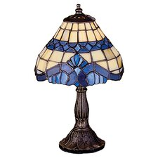 "Art Glass Baroque Mini 11.5"" H Table Lamp with Bowl Shade"
