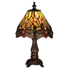 <strong>Meyda Tiffany</strong> Tiffany Hanging Head Dragonfly Mini Table Lamp