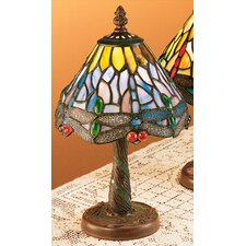 <strong>Meyda Tiffany</strong> Dusky Tiffany Hanging Head Dragonfly Mini Table Lamp