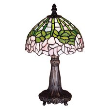 <strong>Meyda Tiffany</strong> Tiffany Cabbage Rose Mini Table Lamp