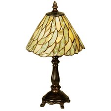 "Jadestone Willow Mini 13"" H Table Lamp with Bowl Shade"