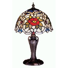 <strong>Meyda Tiffany</strong> Tiffany Floral Renaissance Rose Mini Table Lamp
