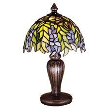 "Tiffany Honey Locust Mini 13"" H Table Lamp with Bowl Shade"