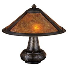 Rustic Van Erp Amber Mica Accent Table Lamp