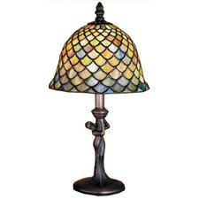 <strong>Meyda Tiffany</strong> Tiffany Fishscale Mini Table Lamp