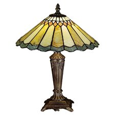 <strong>Meyda Tiffany</strong> Jadestone Nouveau Carousel Accent Table Lamp