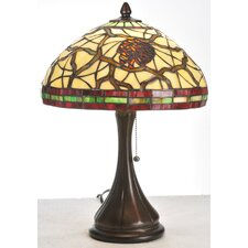 <strong>Meyda Tiffany</strong> Burgundy Pinecone Accent Table Lamp