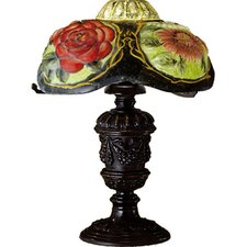 Puffy Oxford Floral Table Lamp