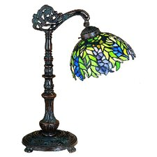 <strong>Meyda Tiffany</strong> Tiffany Honey Locust Bridge Arm Table Lamp