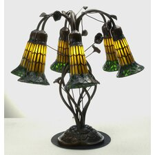 <strong>Meyda Tiffany</strong> Tiffany Pond Lily 6 Light Table Lamp