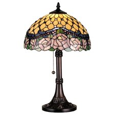 <strong>Meyda Tiffany</strong> Victorian Tiffany Nouveau Jeweled Rose Table Lamp