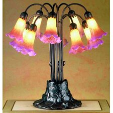 """Tiffany Pond Lily 22"""" H Table Lamp"""