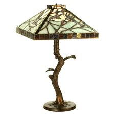 <strong>Meyda Tiffany</strong> Tiffany Animals Backyard Friends Crooked Tree Table Lamp