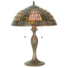 <strong>Meyda Tiffany</strong> Victorian Tiffany Gothic Fleur-De-Lis Table Lamp