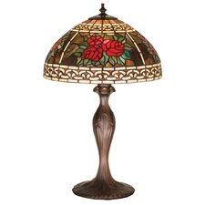 <strong>Meyda Tiffany</strong> Tiffany Roses and Scrolls Table Lamp