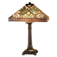 <strong>Meyda Tiffany</strong> Mackintosh Rose Table Lamp