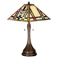 "Prairie Wheat 23"" H Table Lamp with Square Shade"
