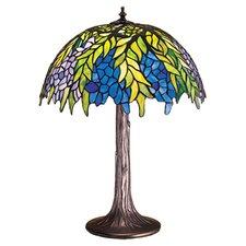 "Tiffany Honey Locust 23"" H Table Lamp with Bowl Shade"