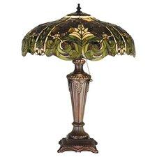 "Tiffany Bavarian 24"" H Table Lamp with Bowl Shade"
