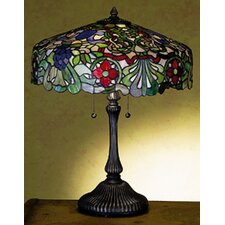 "Duffner and Kimberly Italian Renaissance 24"" H Table Lamp with Bowl Shade"