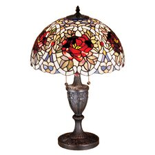 "Renaissance Rose 24"" H Table Lamp with Bowl Shade"