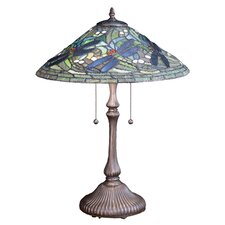 <strong>Meyda Tiffany</strong> Tiffany Flying Dragonfly Table Lamp