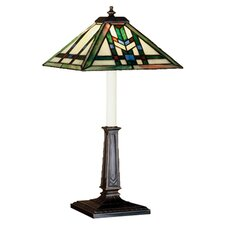 "Prairie Wheat Buffet 24.5"" H Table Lamp with Square Shade"