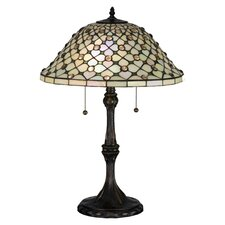 <strong>Meyda Tiffany</strong> Diamond and Jewel Table Lamp