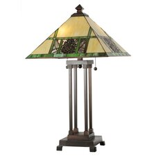 <strong>Meyda Tiffany</strong> Pinecone Ridge Table Lamp