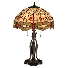 "Tiffany 25.5"" H Hanginghead Dragonfly Table Lamp"