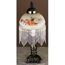 Rose Bouquet Fringed Table Lamp