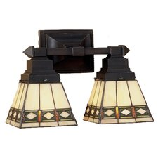 Diamond Mission 2 Light Wall Sconce
