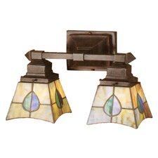 Mackintosh Leaf 2 Light Wall Sconce