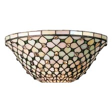 Diamond and Jewel 2 Light Wall Sconce