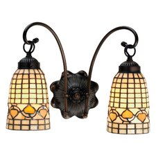Tiffany Acorn 2 Light Wall Sconce
