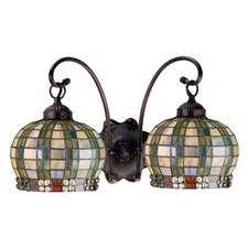 Jeweled Basket 2 Light Wall Sconce