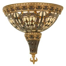 <strong>Meyda Tiffany</strong> Victorian Fleur-De-Lis 2 Light Wall Sconce