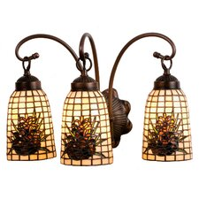 Pine Barons 3 Light Vanity Light