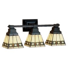 Diamond Mission 3 Light Vanity Light