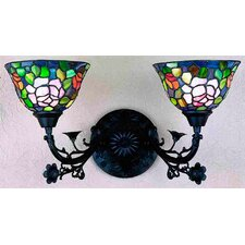 Tiffany Rosebush 2 Light Wall Sconce