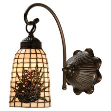 <strong>Meyda Tiffany</strong> Lodge Tiffany Floral Pine Barons 1 Light Wall Sconce