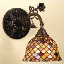 Victorian Tiffany Fishscale 1 Light Wall Sconce