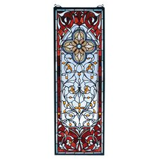 Victorian Tiffany Nouveau Versaille Quatrefoil Stained Glass Window