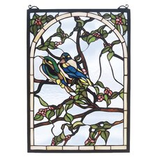 <strong>Meyda Tiffany</strong> Lovebirds Stained Glass Window
