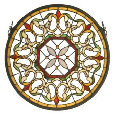 Victorian Fleuring Medallion Stained Glass Window