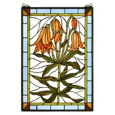 <strong>Meyda Tiffany</strong> Trumpet Lily Stained Glass Window