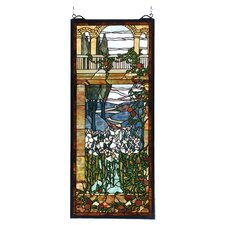 Victorian Deco Tiffany Peace Balcony Stained Glass Window