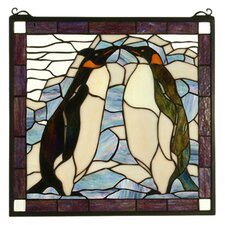 Tiffany Animals Penguin Stained Glass Window