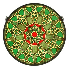 Tiffany Nouveau Knotwork Trance Medallion Stained Glass Window